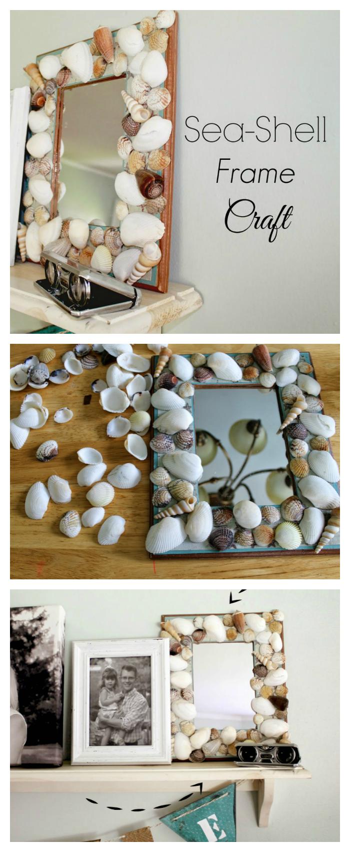 DIY Seashell Frame Craft