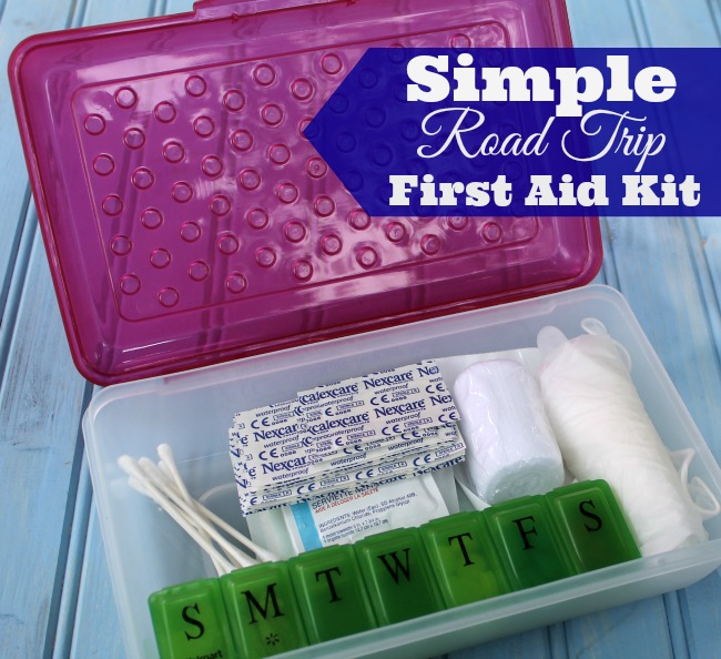 Simple Road Trip First Aid Kit