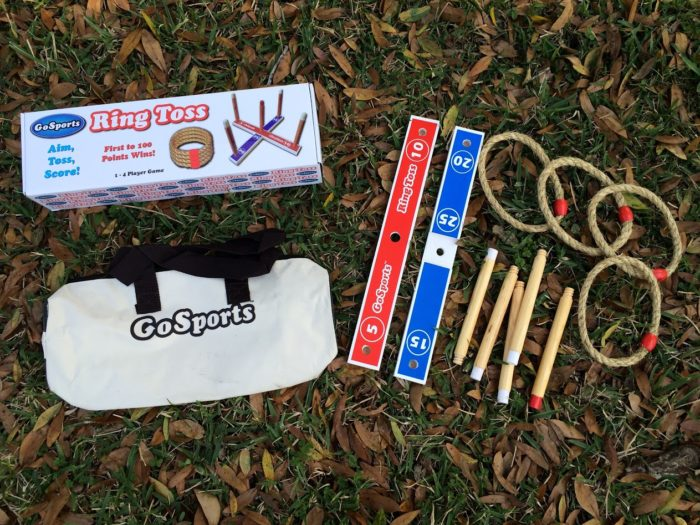 GoSports Premium Wooden Ring Toss Game