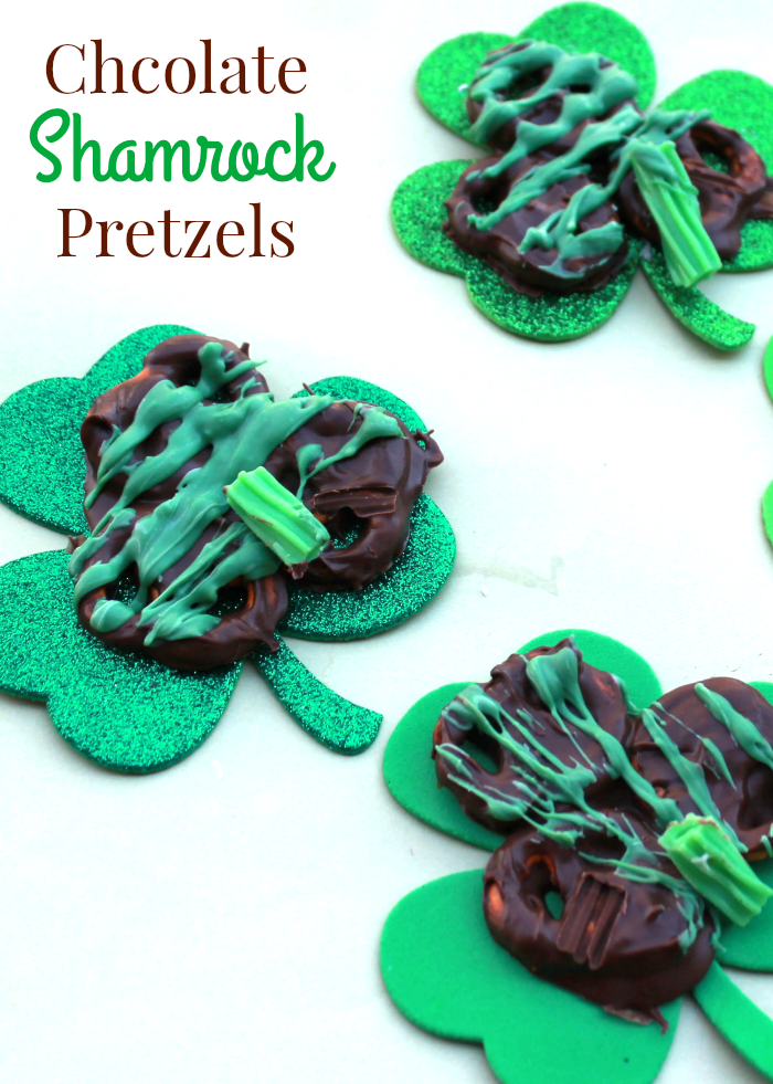 Chocolate Shamrock Pretzels