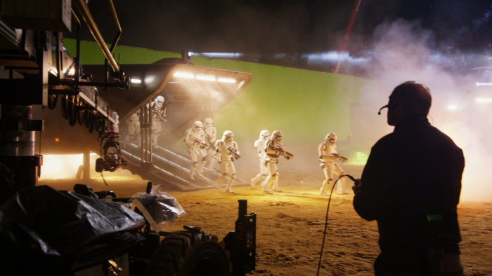 Star Wars: The Force Awakens behind the scenes photo