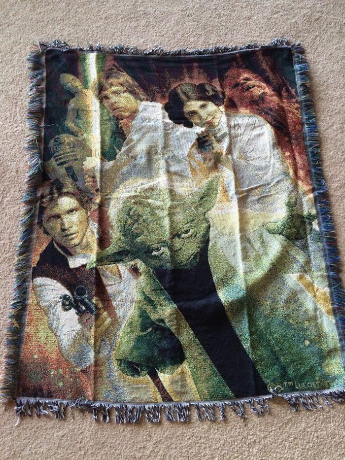 Retro Star Wars throw blanket
