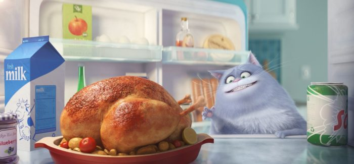 The Secret Life of Pets Cat looking in fridge