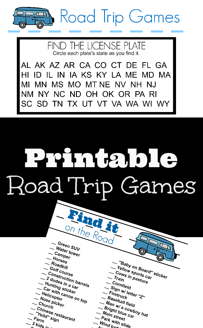 image regarding Free Printable Road Trip Games identify Printable Street Getaway Game titles for Huge Youngsters - Outnumbered 3 in the direction of 1