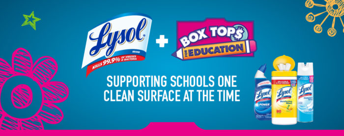 Lysol and Box Tops