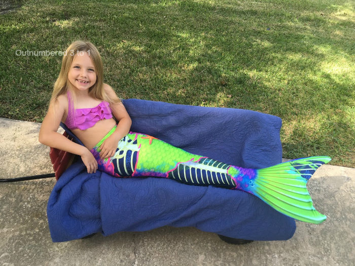 Each Neon Skeletail comes with a free matching top available in 3 colors.  Like all Fin Fun swimmable mermaid tails db3219a3a