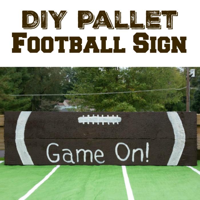 DIY Pallet Football Sign