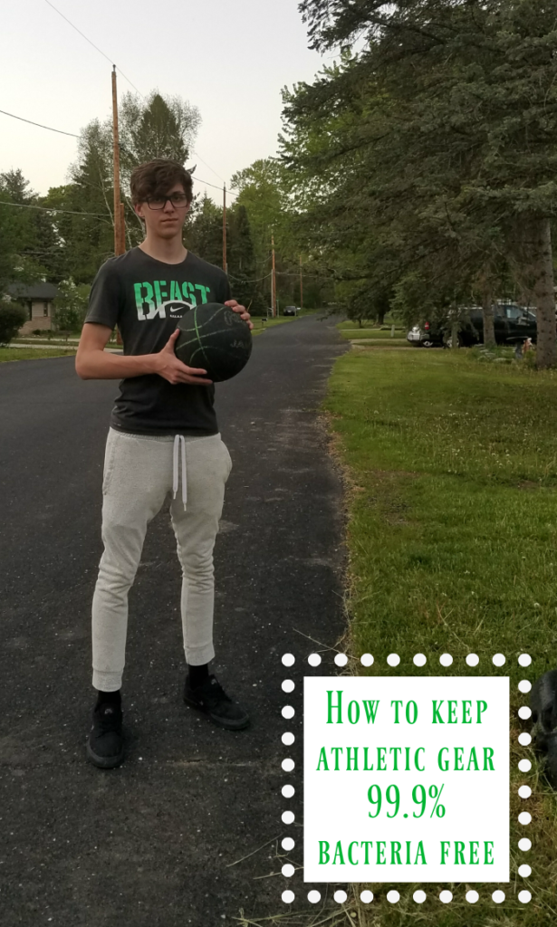 Kids and athletic gear go hand in hand but those clothes get rather smelly and full of germs, YUCK! Learn how to keep athletic gear bacteria free