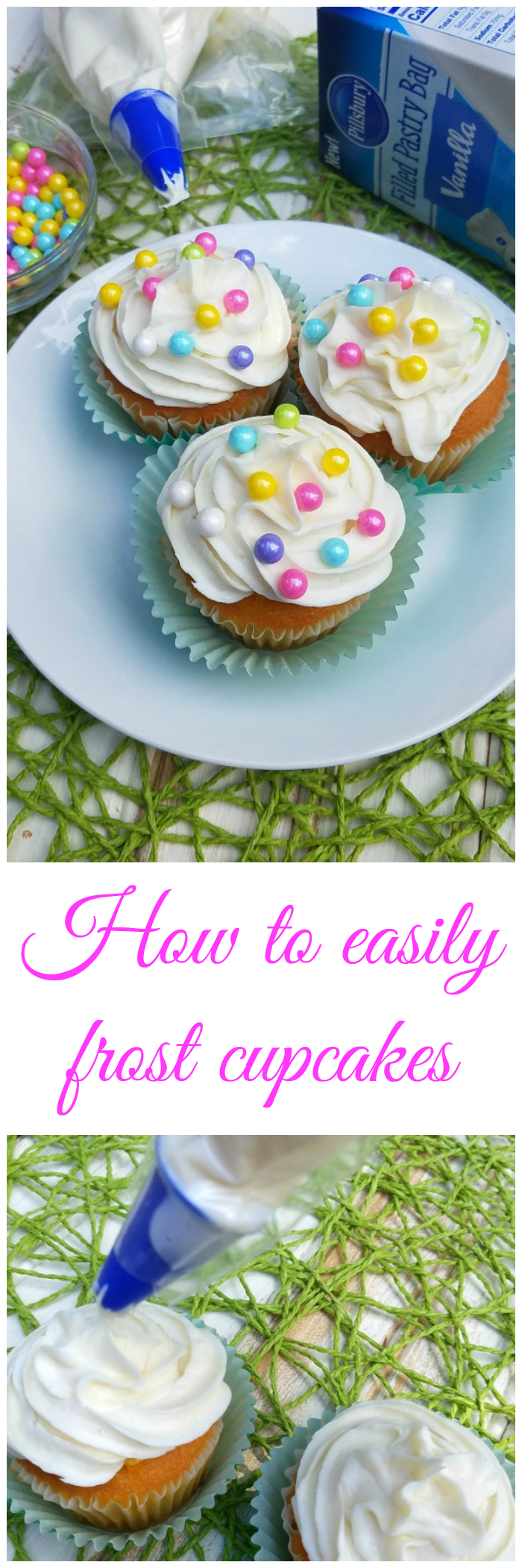 How to easily frost cupcakes