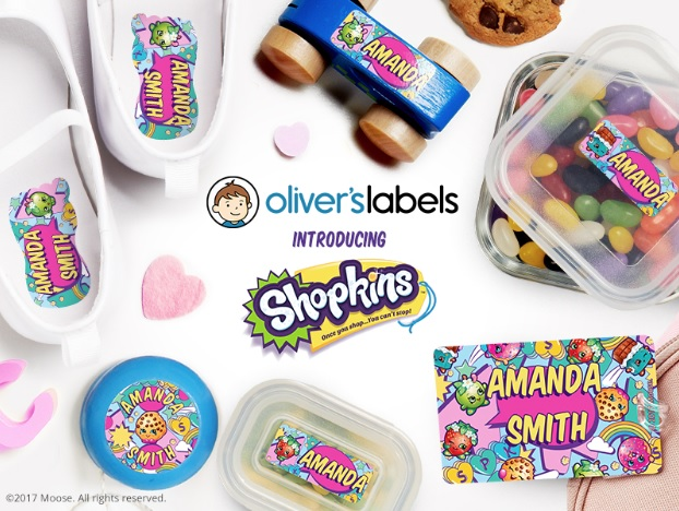 Back to School Shopkins Labels From Oliver's Labels + Coupon Code