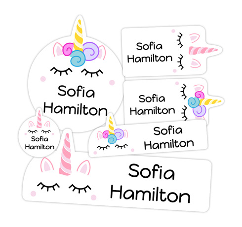 Adorable NEW Unicorn and Alligator Labels From Name Bubbles