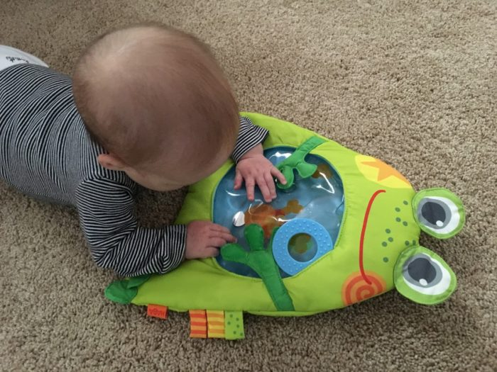 Make Tummy Time Fun With the Little Frog Water Play Mat from HABA