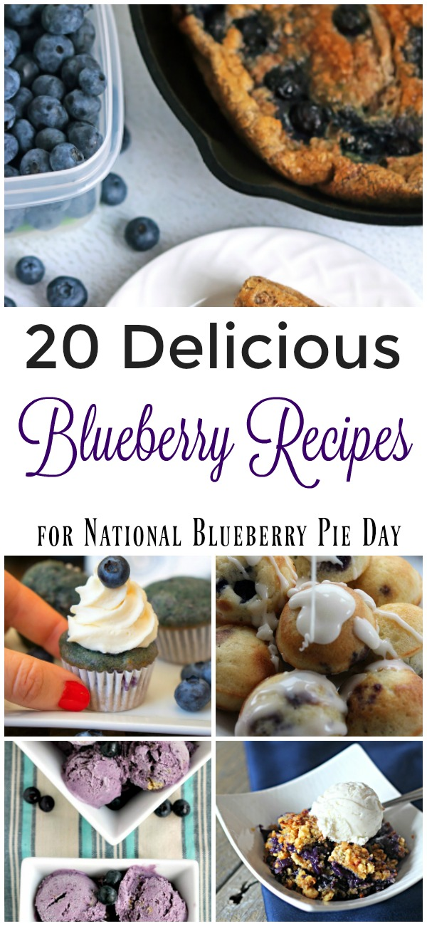 20 Delicious Blueberry Recipes for National Blueberry Pie Day