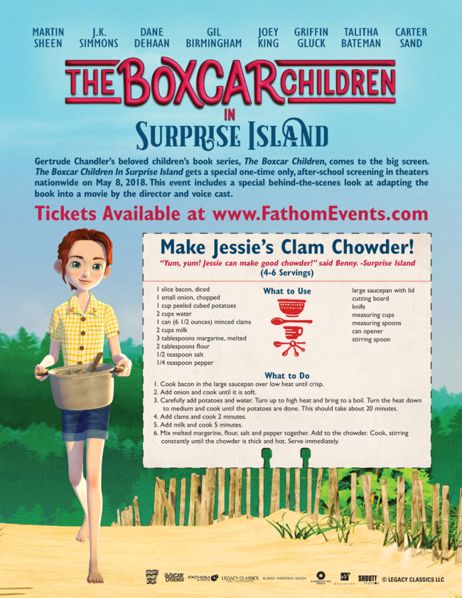NEW Animated Feature The Boxcar Children ? Surprise Island in Theaters May 8th + Giveaway