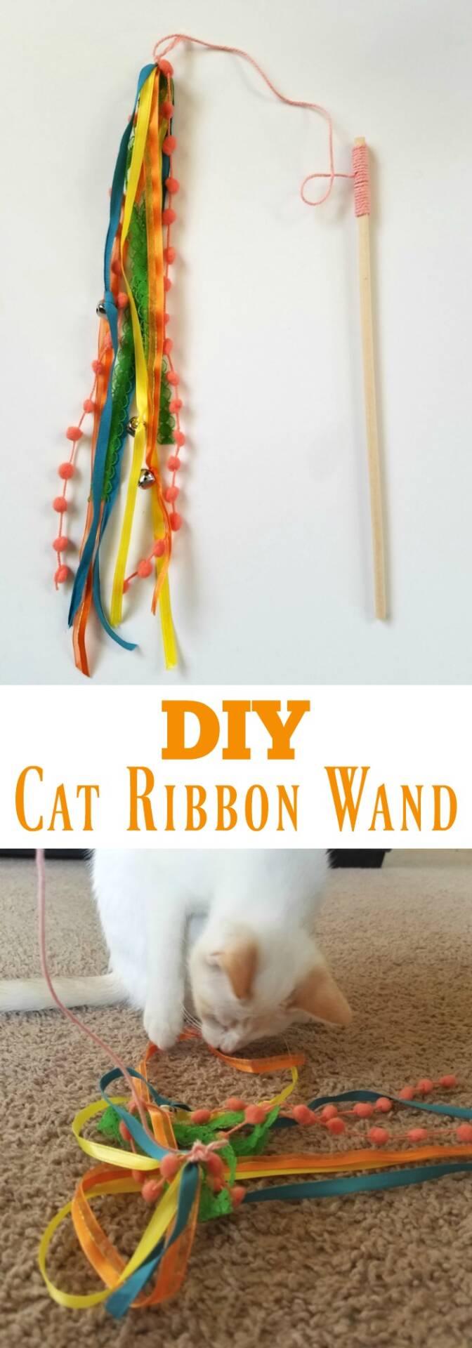 DIY Cat Ribbon Wand
