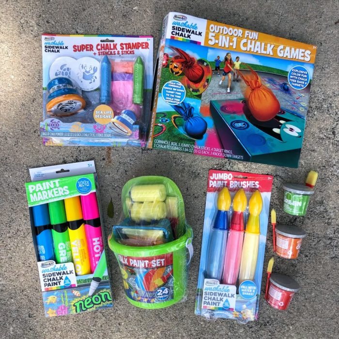 Washable Sidewalk Chalk Paint Sets From RoseArt Have Kids Playing Outside for Hours