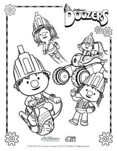 Doozers coloring sheets