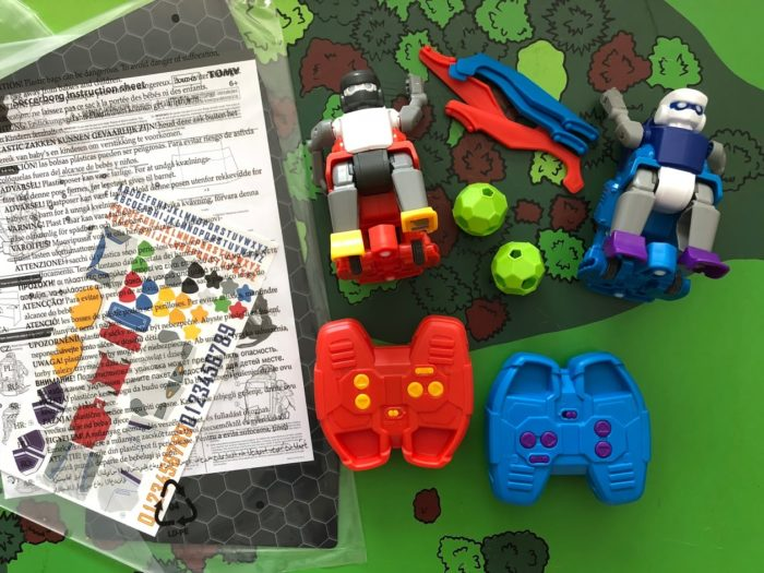 Battle Robots in a Game of Soccer in Soccerborg