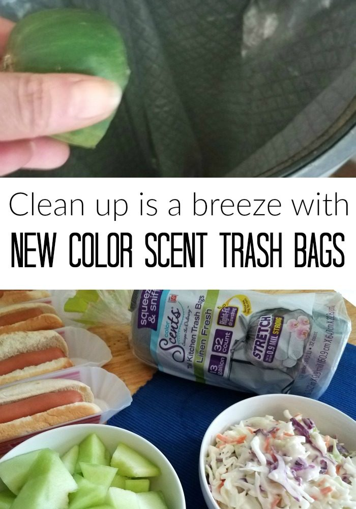 Clean Up is a Breeze with NEW Color Scents Trash Bags