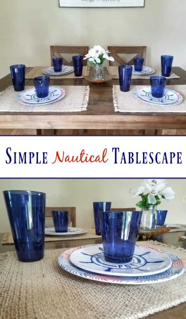 Simple Nautical Tablescape