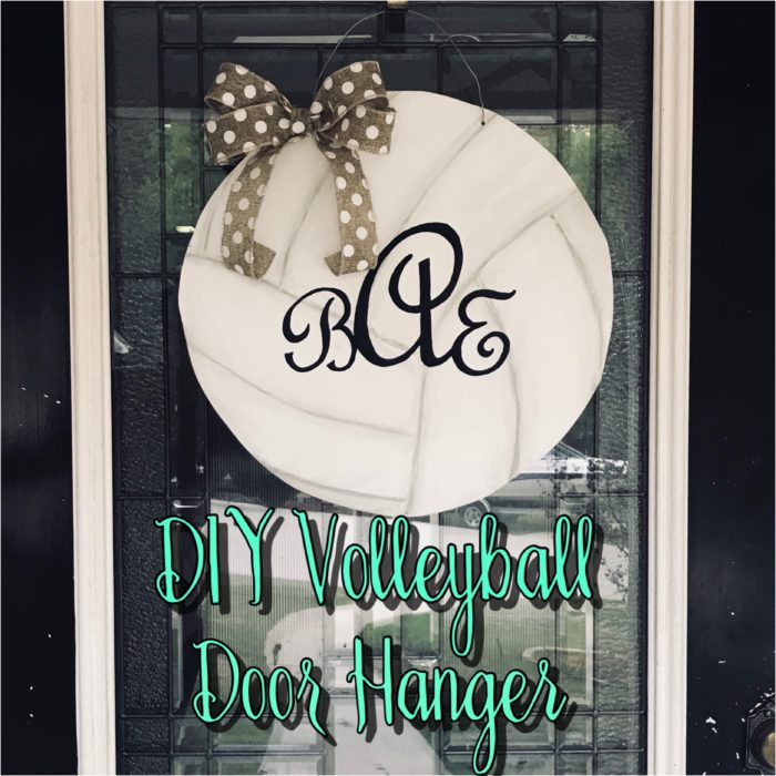 DIY Volleyball Door Hanger