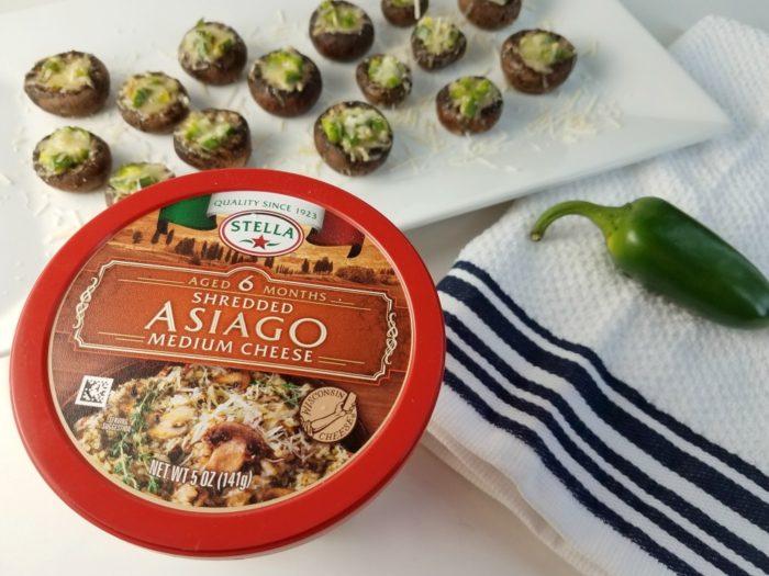 Asiago & Jalapeno Stuffed Portobello Mushrooms Stella Cheese