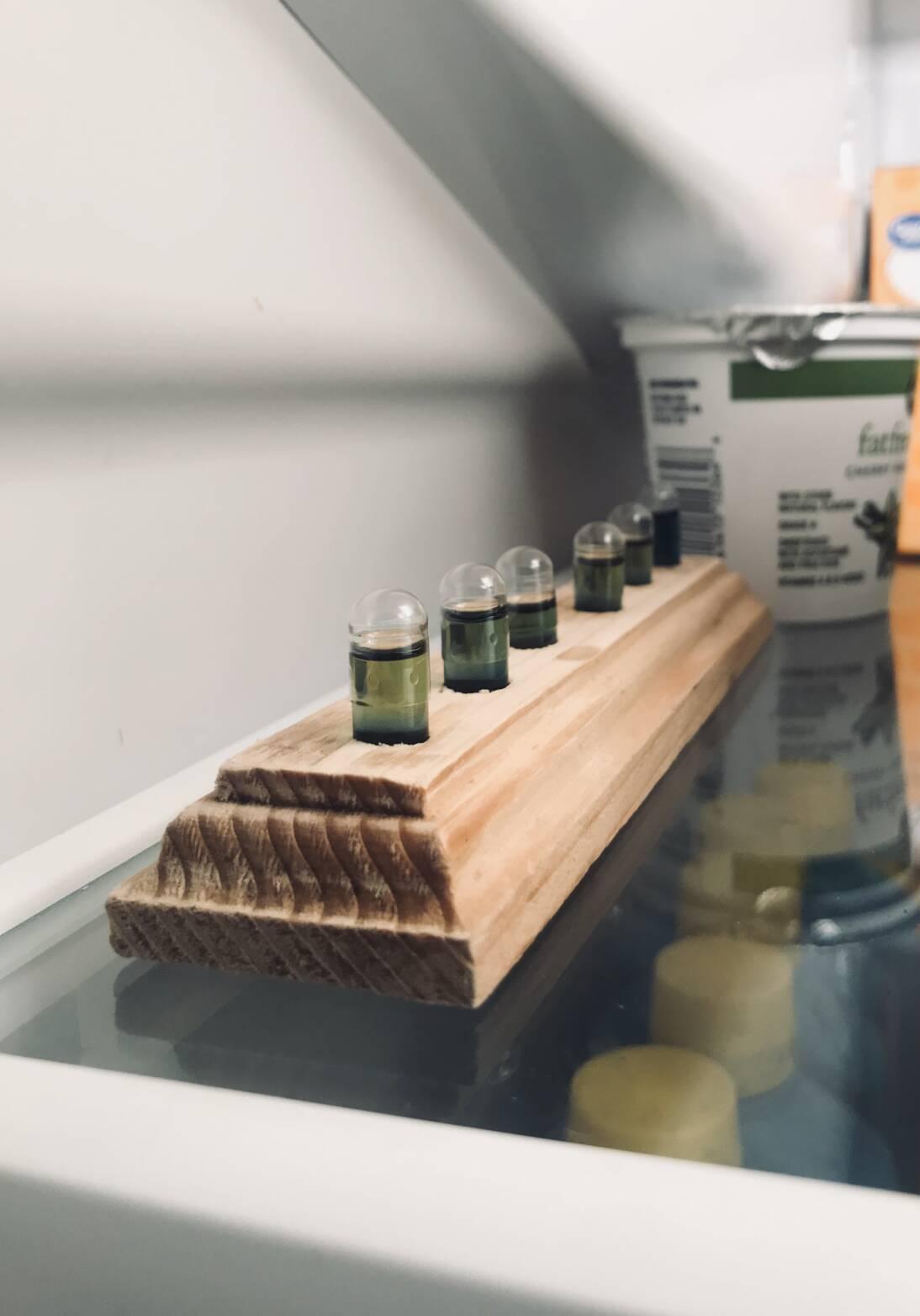 DIY Essential Oil Veggie Cap Holder
