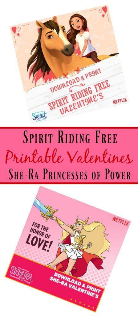 Spirit Riding Free Printable Valentines