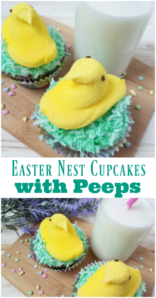 Easter Nest Cupcakes with Peeps