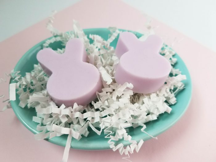 Simple Homemade Bunny Soaps