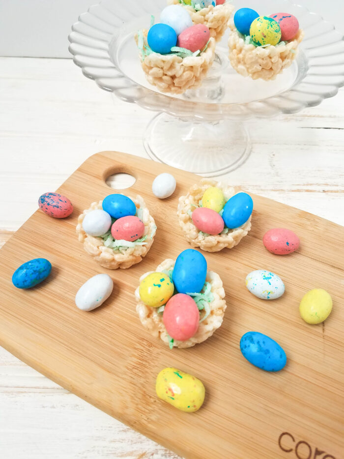 Robin Eggs Rice Krispies Nests