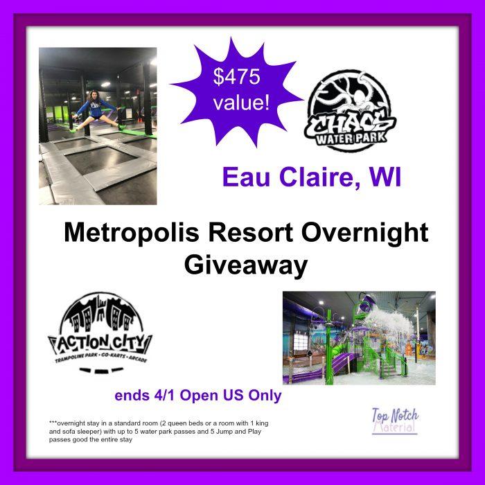 Metropolis Resort Family Getaway Prize Package