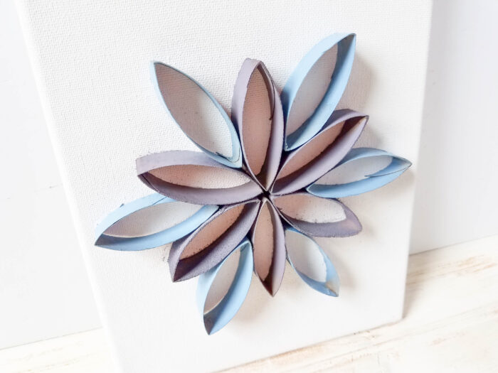 Toilet Paper Roll Art Tutorial - Flower Canvas