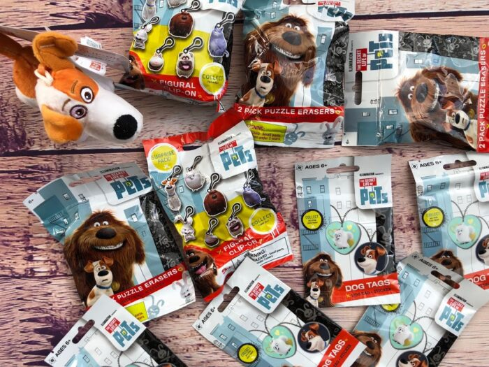 This fun filled package contains 8 random items, including Dog Tags, puzzle erasers, keychains, and Plush. Over $25 in value fun!