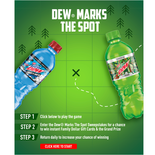 DEW Marks the Spot