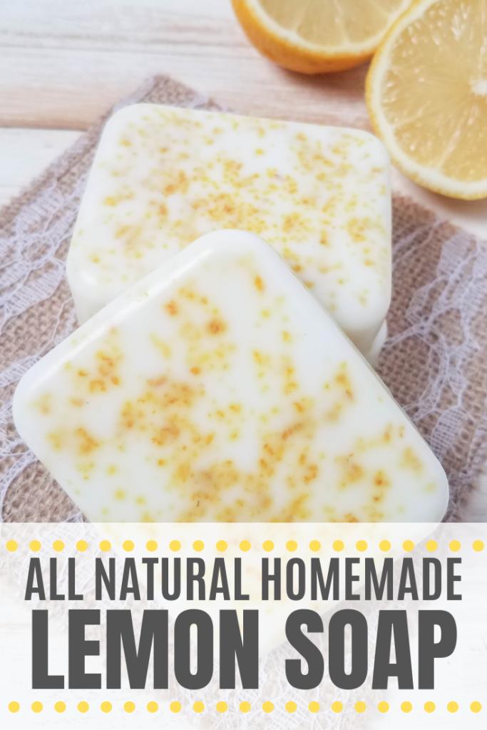 Homemade All Natural Lemon Soap