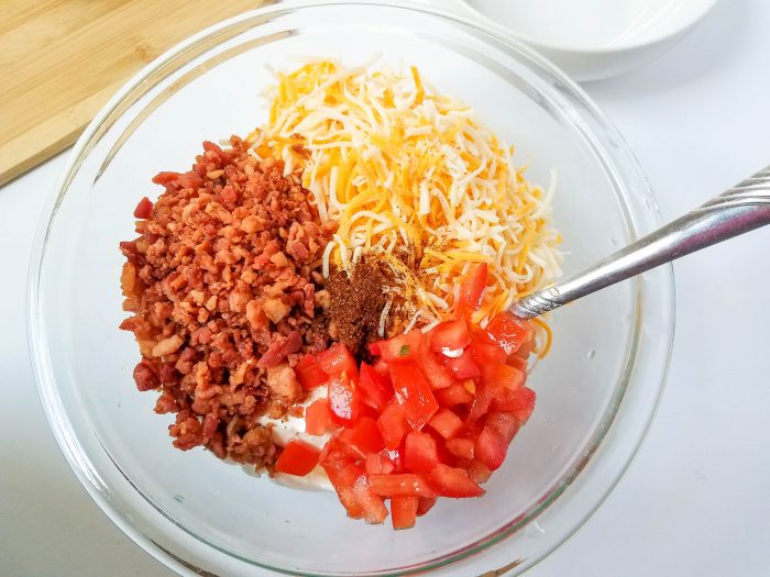 cheesy bacon dip ingredients