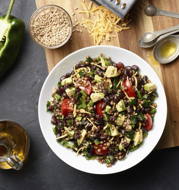 Wheat Berry, Black Bean, and Avocado Salad