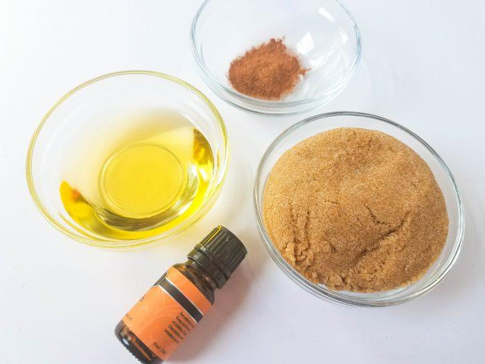 ingredients for sugar scrub