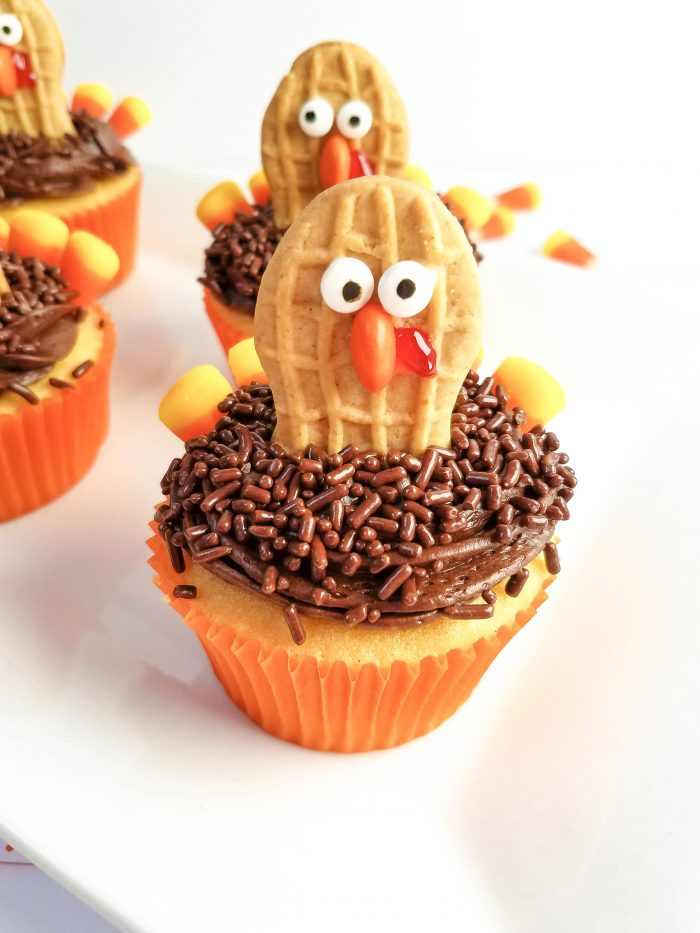turkey cupcakes with nutter butters