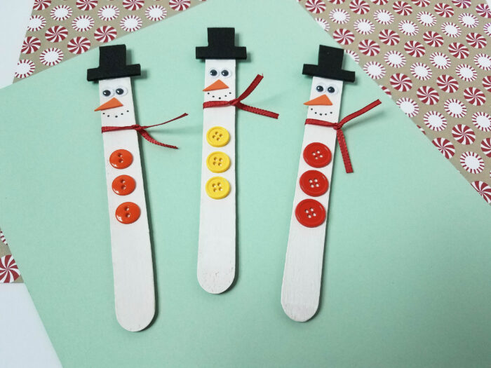 easy snowman magnets