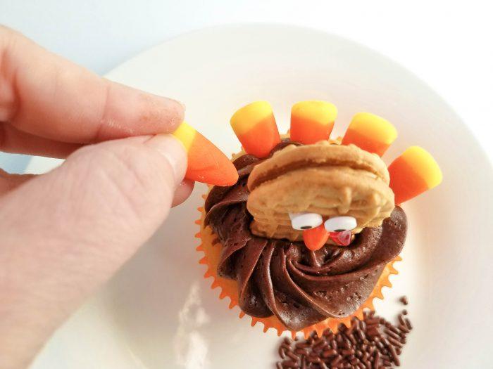 turkey cupcakes candy corn