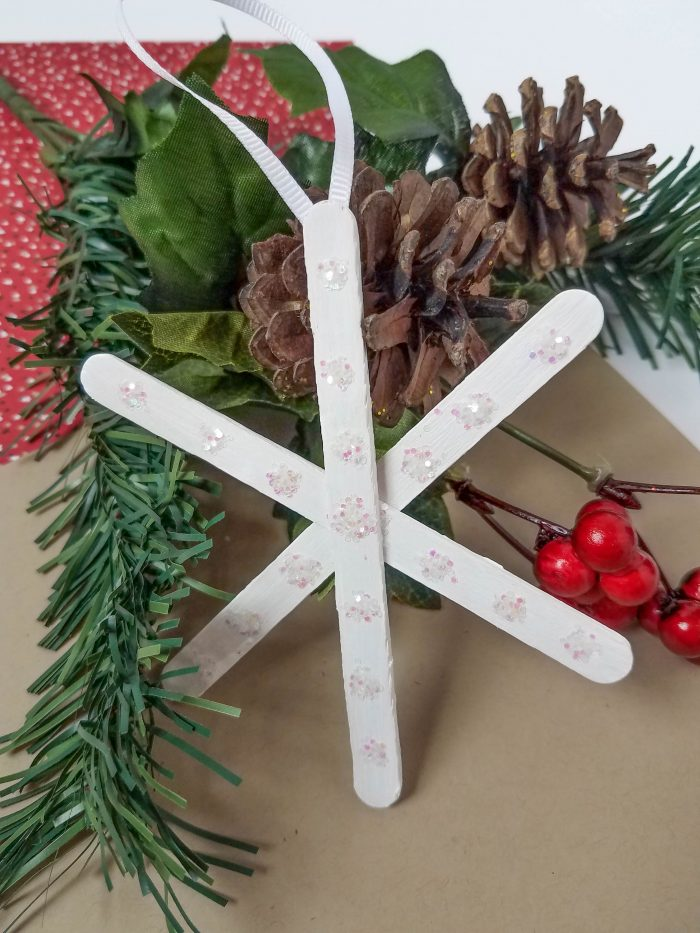 DIY Glitter Snowflake Ornaments