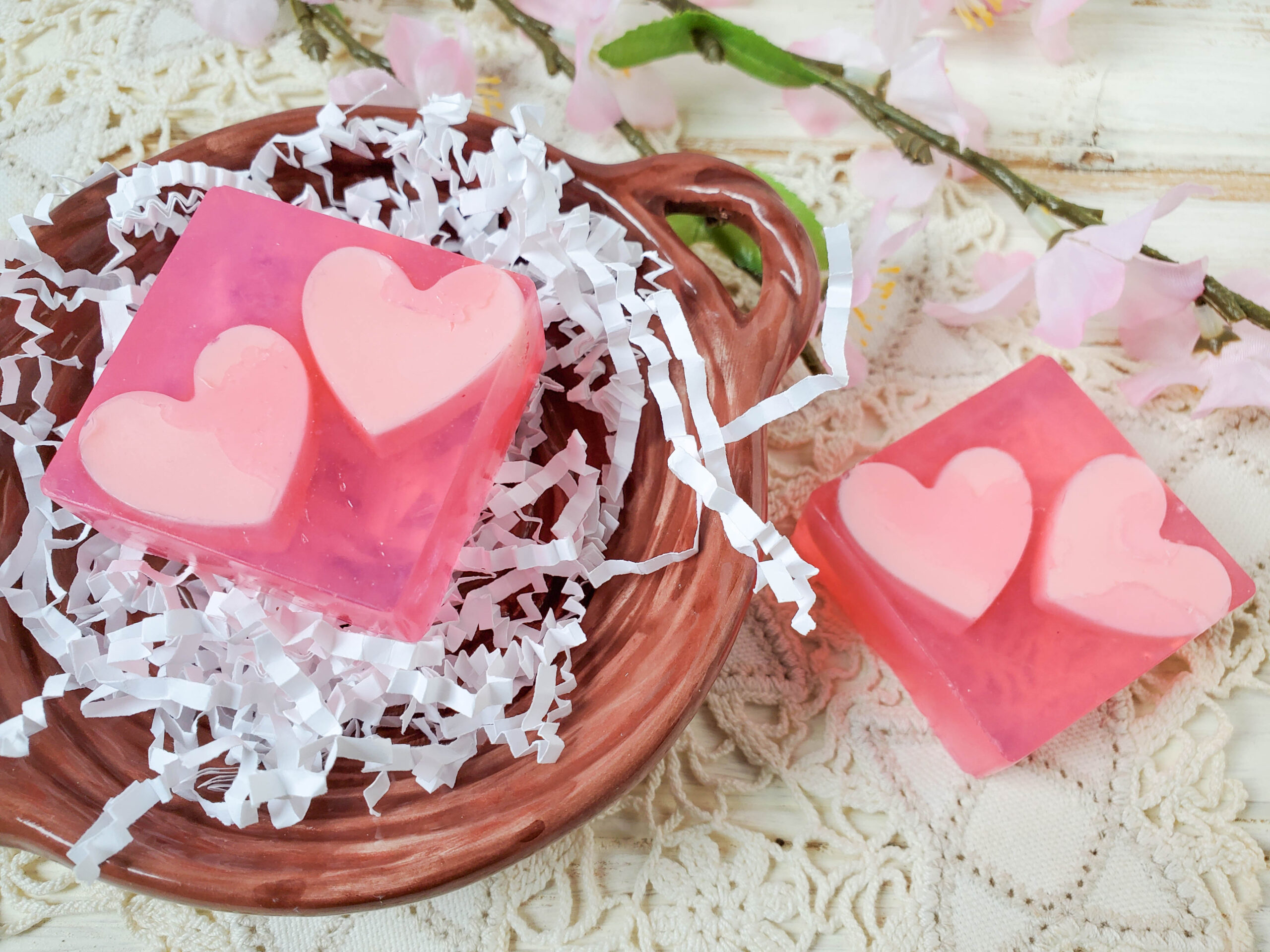 Heart Homemade Soap Without Lye