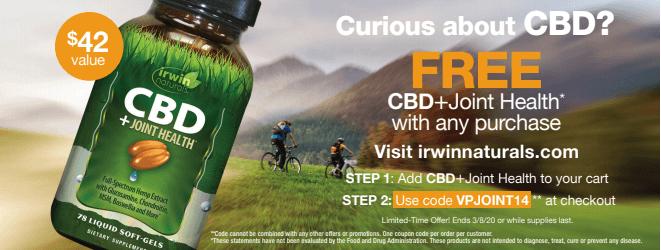 Irwin Naturals CBD Promo Code