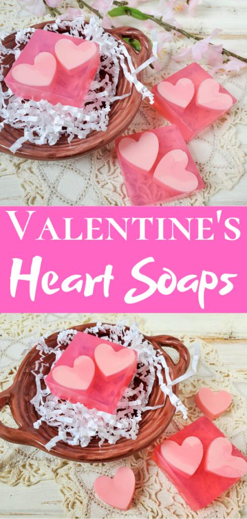 Valentine's Heart Soaps diy