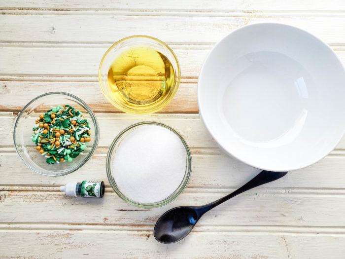 sugar scrub recipe supplies