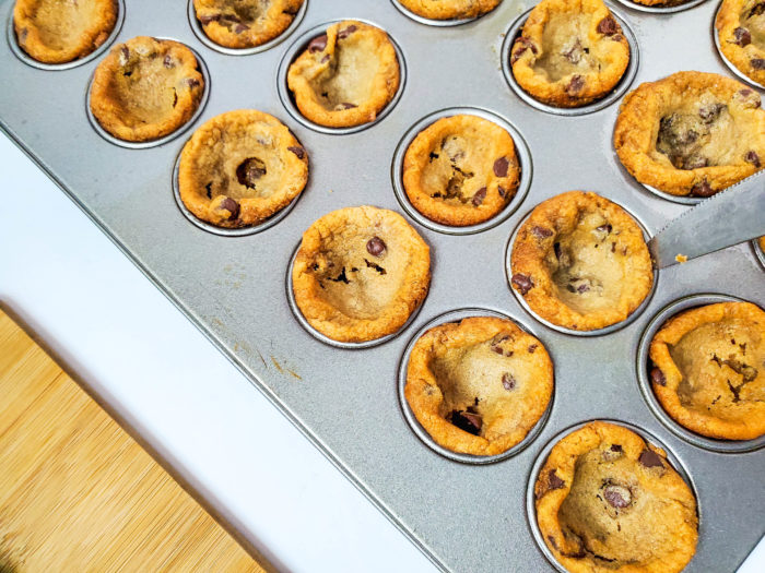baking cookie cups
