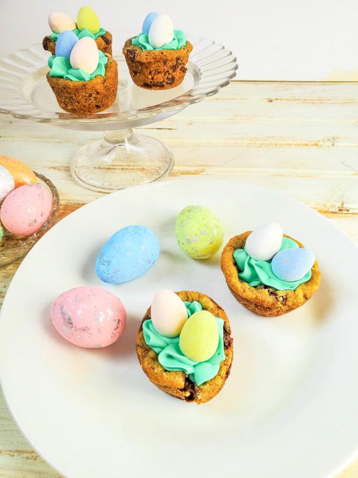 Cadbury Mini Eggs cookie cups