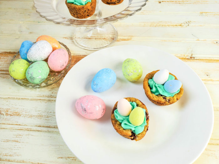 Easter nest cookie cups